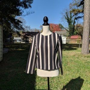 Zara Woman Striped Long Sleeve Blouse S